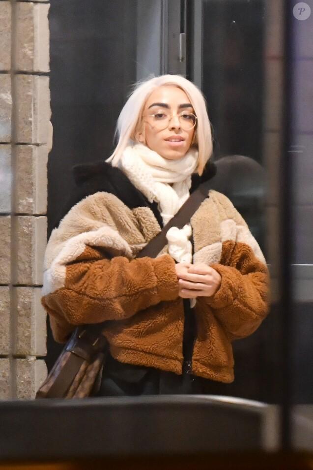 Exclusif - Bilal Hassani sort de l'émission de Cauet sur NRJ à Paris le 16 janvier 2019.