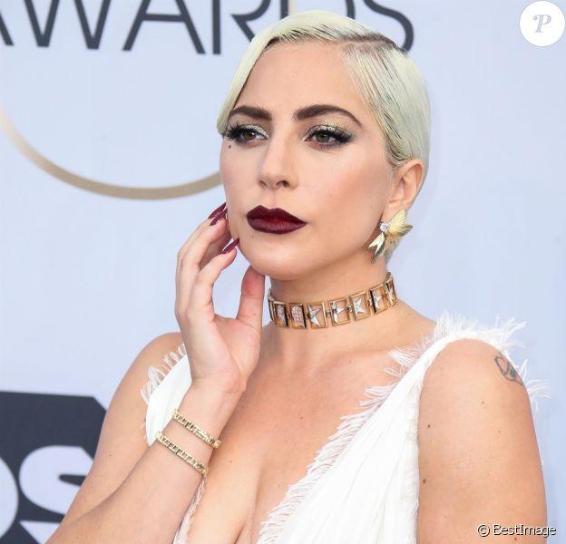Lady Gaga, Stefani Joanne Angelina Germanotta - Photocall - 25ème cérémonie annuelle des Screen Actors Guild Awards au Shrine Audritorium à Los Angeles, le 27 janvier 2019.