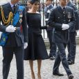 Le prince William, duc de Cambridge, Meghan Markle, duchesse de Sussex et le prince Harry, duc de Sussex - La famille royale d'Angleterre à l'abbaye de Westminster pour le centenaire de la RAF à Londres. Le 10 juillet 2018