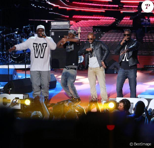 Sexion D'Assaut ont obtenu les Prix de la meilleure Chanson et Prix de la meilleure performance live - Ceremonie des Trace Urban Music Awards 2013 a Paris le 14 mai 2013.