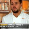 """Florian lors du quatrième épisode de """"Top Chef"""" saison 10, le 27 février 2019 sur M6."""
