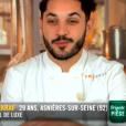 """Merouan lors du quatrième épisode de """"Top Chef"""" saison 10, le 27 février 2019 sur M6."""