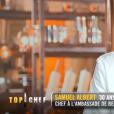"""Samuel lors du quatrième épisode de """"Top Chef"""" saison 10, le 27 février 2019 sur M6."""