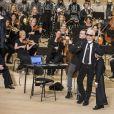 Karl Lagerfeld et son filleul Hudson Kroenig - Défilé Collection Métiers d'Art Chanel à la Philharmonie de l'Elbe à Hambourg, Allemagne, le 6 décembre 2017. © Olivier Borde/Bestimage