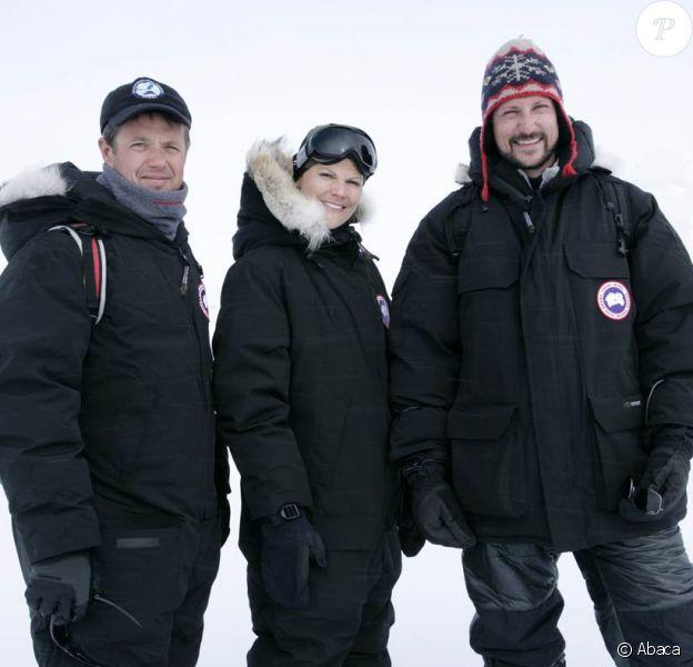 Frederik de Danemark, Victoria de Suède et Haakon de Norvège en expédition au Groenland