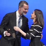 Letizia d'Espagne : Très fière de Felipe, qui l'embrasse en public !