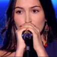 """Ilycia dans """"The Voice 8"""" sur TF1, le 23 février 2019."""