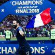 Adil Rami - Finale de la Coupe du Monde de Football 2018 en Russie à Moscou, opposant la France à la Croatie (4-2). Le 15 juillet 2018.
