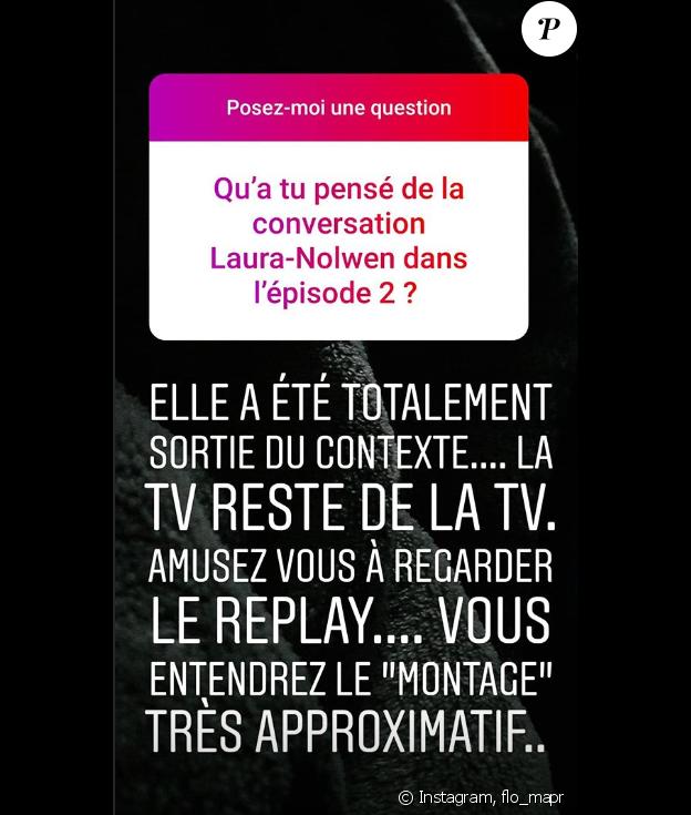 """Florian de """"Mariés au premier regard 3"""" - 24 février 2019, story Instagram"""