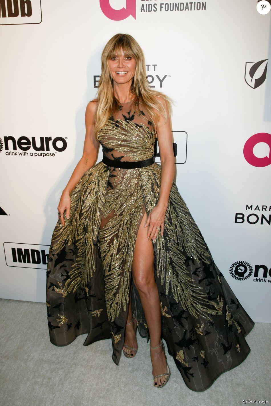 Heidi Klum à la soirée caritative AIDS Foundation Academy Awards Viewing Party à Los Angeles, le 24 février 2019