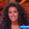 """Sabrina Ouazani explique pourquoi elle se fait discrète quant à son couple avec Franck Gastambide, le 26 février 2019 sur le plateau de """"Touche pas à mon poste"""" (C8)."""