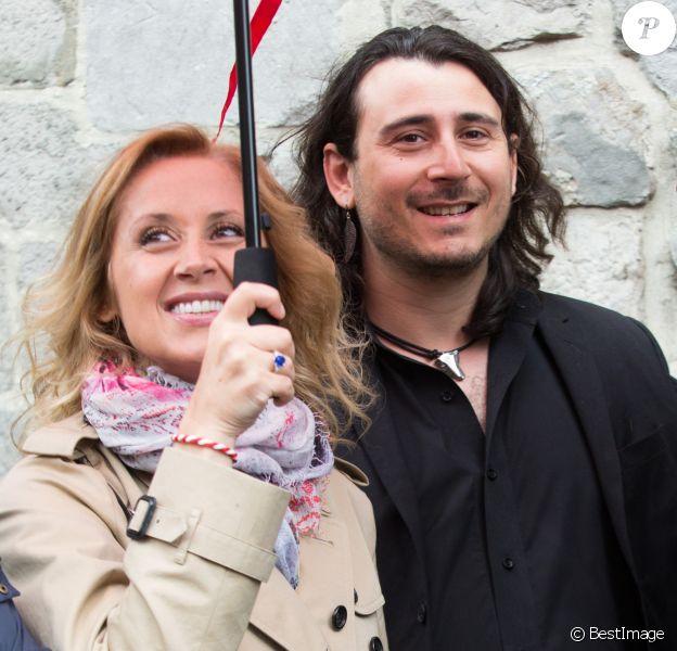 Lara Fabian et son mari Gabriel Di Giorgio assistent à la ducasse de Mons en Belgique. Le 22 mai 2016
