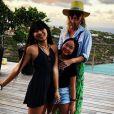 Françoise Thibault publie un message et une photo de sa fille Laeticia Hallyday et ses petites-filles Jade et Joy à la fin de ses vacances. Instagram, le 4 mars 2019.