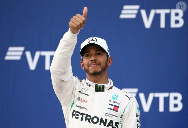 Le pilote Mercedes AMG Petronas Lewis Hamilton au Grand Prix de Formule 1 de Russie à Sotchi, Russie le 30 septembre 2018.