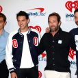 KJ Apa, Casey Cott, Luke Perry, Skeet Ulrich lors du iHeartRadio Music Festival organisé à Las Vegas le 22 septembre 2018.