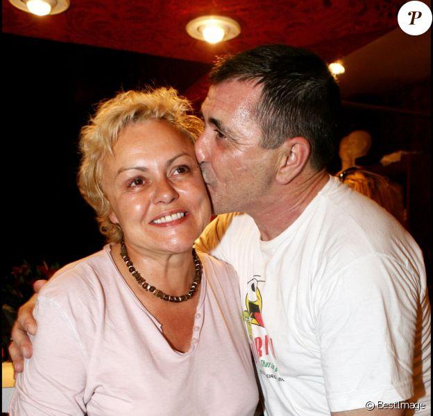Exclu - Muriel Robin et Jean-Marie Bigard au Théâtre de Paris, le 17 mai 2006.
