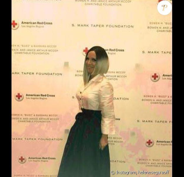 Hélène Ségara a dévoilé sa nouvelle coupe de cheveux à la soirée Humanitarian Awards, le 8 mars 2019 à Los Angeles.