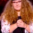"""Camille dans """"The Voice 8"""" sur TF1, le 16 mars 2019."""