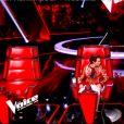 """Jenifer en larmes dans """"The Voice 8"""" sur TF1, le 16 mars 2019."""