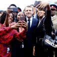 Le président Emmanuel Macron lors du sommet One Planet, Africa Pledge, l'engagement de l'Afrique à Nairobi le 14 mars 2019. © Dominique Jacovides / Bestimage