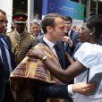 le président Emmanuel Macron, Kra Affoua Marina lors du sommet One Planet, Africa Pledge, l'engagement de l'Afrique à Nairobi le 14 mars 2019. © Dominique Jacovides / Bestimage