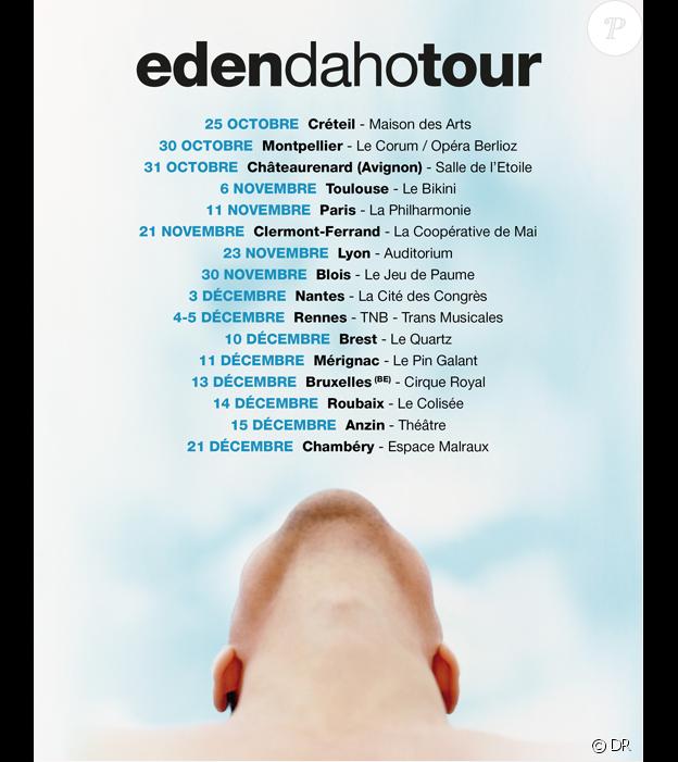EdenDahoTour - fin 2019 dans toute la France.