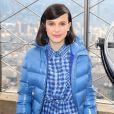 Millie Bobby Brown soutient l'UNICEF à l'Empire State Building à New York, le 20 novembre 2018
