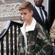Romeo Beckham - David Beckham et ses enfants quittent le défilé Victoria Beckham à Londres lors de la Fashion Week le 16 septembre 2018.