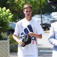 Romeo Beckham - Arrivées au tournoi de tennis de Wimbledon à Londres. Le 11 juillet 2018