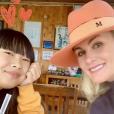 Laeticia Hallyday en tête à tête avec sa fille Jade à Los Angeles, janvier 2019.