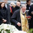 Macha Méril aux obsèques de Michel Legrand au cimetière du Père-Lachaise à Paris le 1er février 2019.