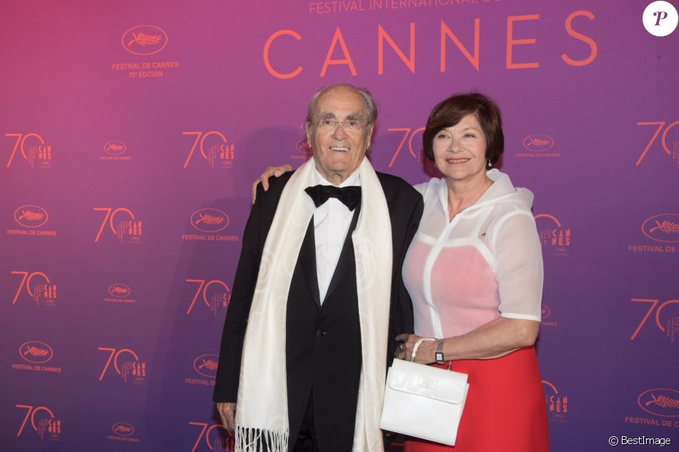 Michel Legrand et Macha Méril au dîner de la cérémonie d'ouverture du 70e Festival International du Film de Cannes, le 17 mai 2017 © Borde-Jacovides-Moreau/Bestimage