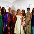 Sylvie Tellier et plusieurs Miss France lors du gala des Bonnes fées le 20 mars 2019 à Paris.