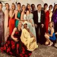 Arthur entouré de toutes les Miss au gala des Bonnes fées le 20 mars 2019.