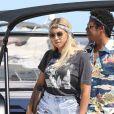 Exclusif - Jay-Z et sa femme Beyonce arrivent en bateau à Nice avec un sac de la marque Bottega Veneta avant de se produire sur la scène de l'Allianz Riviera le 17 juillet 2018.
