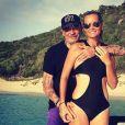 Laeticia et Johnny Hallyday sur Instagram le 27 août 2014.