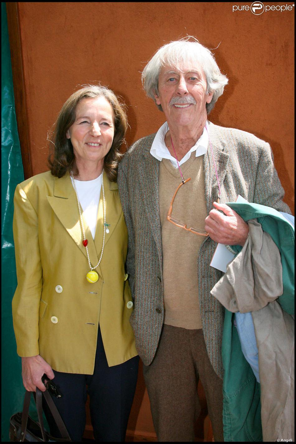 Jean-Rochefort et sa femme à Roland-Garros - Purepeople