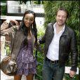 Samuel Le Bihan et sa charmante femme Daniela hier à Roland-Garros