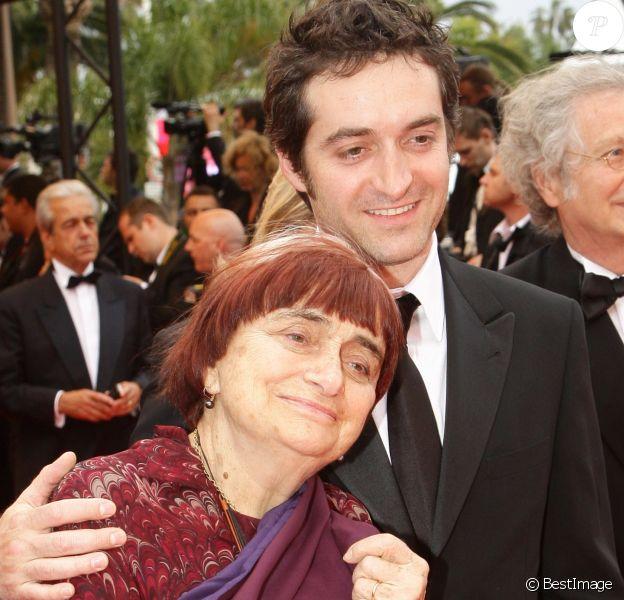 Agnès Varda et son fils Mathieu Demy - Montée des marches du Festival de Cannes en 2009