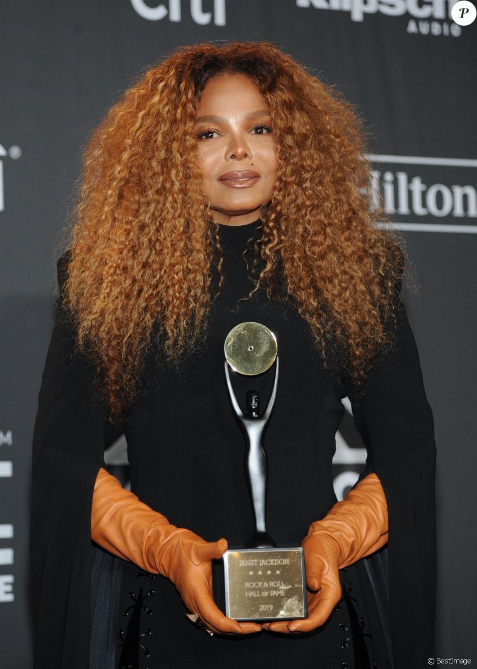 Janet Jackson à la soirée Rock & Roll Hall Of Fame Induction au Barclays Center dans le quartier de Brooklyn à New York, le 29 mars 2019.