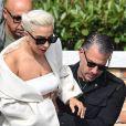 Lady Gaga et son ex Christian Carino quittent Venise après avoir assisté au 75ème Festival du Film International, la Mostra, le 2 septembre 2018.