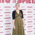 """Marie-Ange Casta lors du photocall du film """"Lo spietato"""" à Rome le 4 avril 2019."""