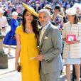 George Clooney et sa femme Amal - Les invités arrivent à la chapelle St. George pour le mariage du prince Harry et de Meghan Markle au château de Windsor, Royaume Uni, le 19 mai 2018.