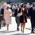 Idris Elba, Sabrina Dhowre et Oprah Winfrey - Les invités arrivent à la chapelle St. George pour le mariage du prince Harry et de Meghan Markle au château de Windsor, Royaume Uni, le 19 mai 2018.