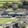 Exclusif - Obsèques du rappeur assassiné Nipsey Hussle au cimetière de Forest Lawn à Los Angeles le 12 avril 2019.