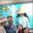 """Jade Hallyday sur Instagram, le 15 avril 2019. Voyage au Vietnam avec sa mère et sa soeur Joy. Elles ont visité l'association deLaeticia Hallyday et Hélène Darroze """"La bonne étoile"""", qui vient en aide aux orphelins vietnamiens."""