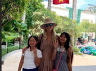 Laeticia Hallyday au Vietnam avec Jade et Joy : tendre moment avec des orphelins