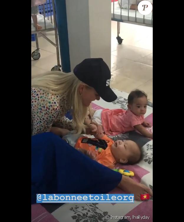 Laeticia Hallyday sur Instagram, le 15 avril 2019.