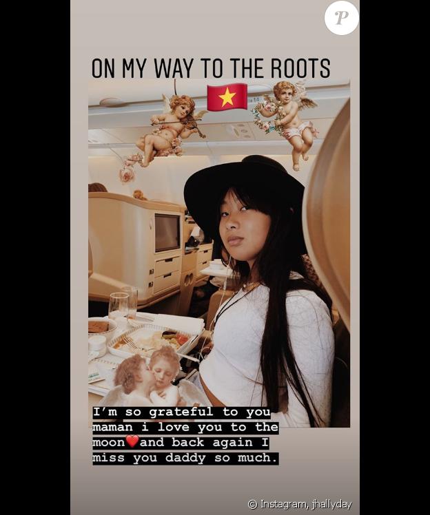 Jade Hallyday le 15 avril 2019, sur Instagram.