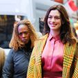 Anne Hathaway fait un passage à l'émission Good Morning America à New York le 23 janvier 2019.